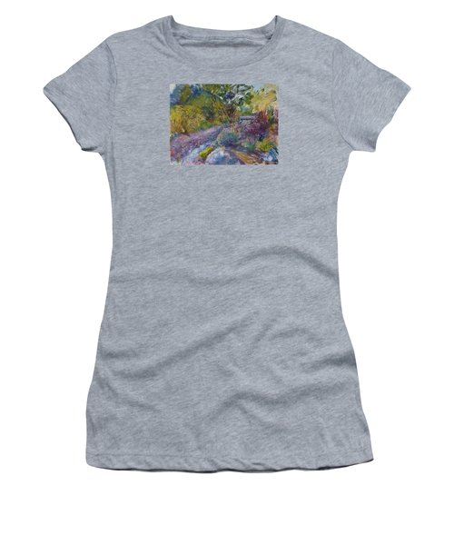 Chartreuse And Magenta Women's T-Shirt (Junior Cut) by Helen Campbell
