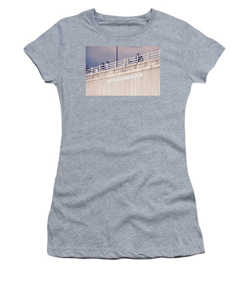 Women's T-Shirt (Athletic Fit) featuring the photograph Waterloo Bridge by Rasma Bertz