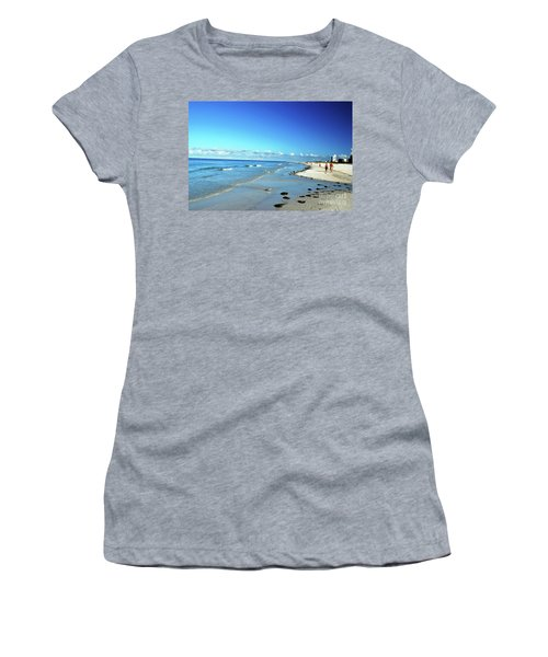 Women's T-Shirt (Athletic Fit) featuring the photograph Water's Edge by Gary Wonning