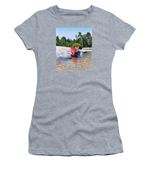 Women's T-Shirt (Junior Cut) featuring the painting Waters Edge by Kenneth M Kirsch