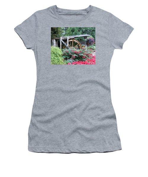 Waterwheel Women's T-Shirt (Junior Cut) by Betty Buller Whitehead