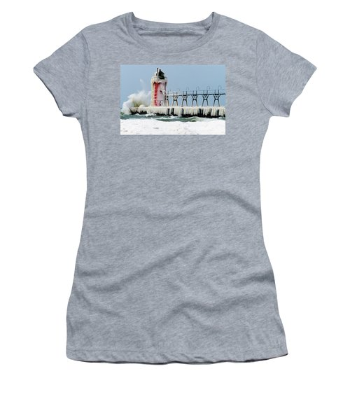 Wave Crashing On Snow-covered South Women's T-Shirt