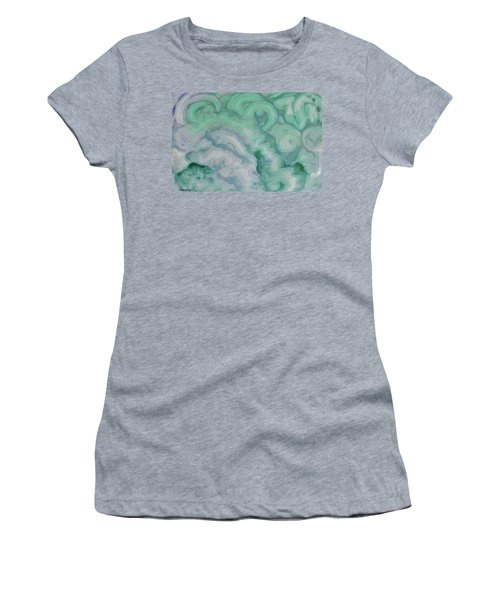 Women's T-Shirt (Athletic Fit) featuring the painting Waves by Michele Myers
