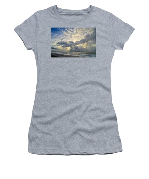 Weather Over Topsail Beach 2977 Women's T-Shirt (Athletic Fit)