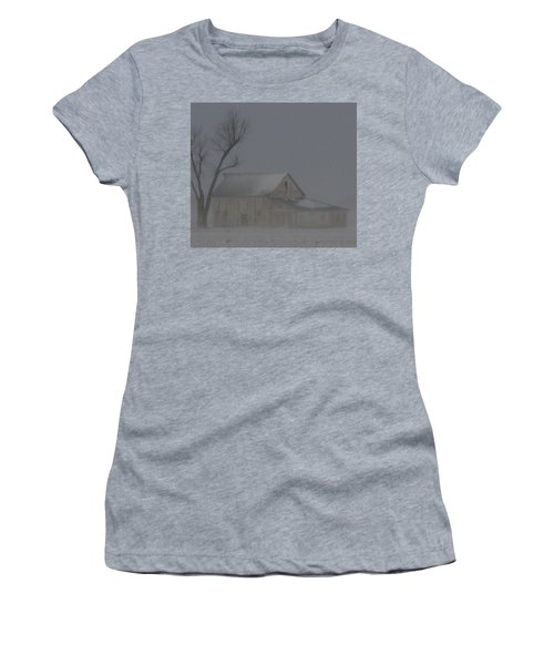 Weathering The Blizzard Women's T-Shirt (Athletic Fit)