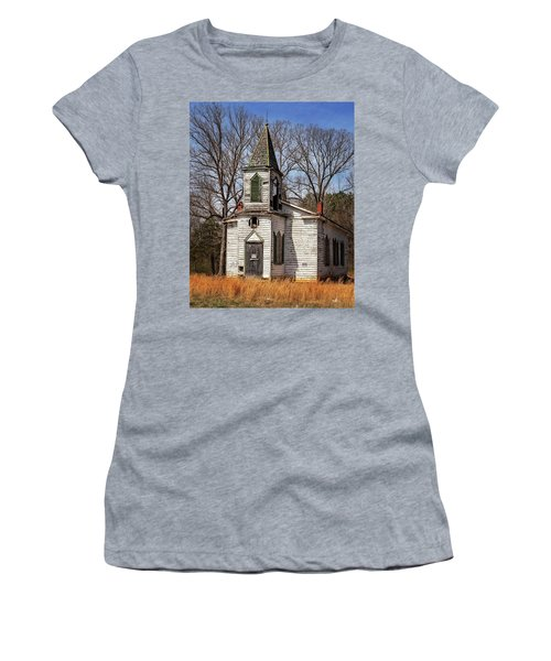 Women's T-Shirt (Athletic Fit) featuring the photograph Wedding Chapel by Alan Raasch