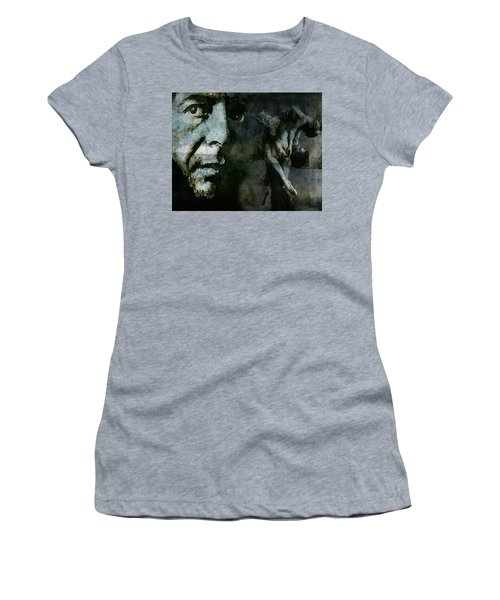 Women's T-Shirt (Junior Cut) featuring the painting Well , I've Heard There Is A Secret Chord by Paul Lovering