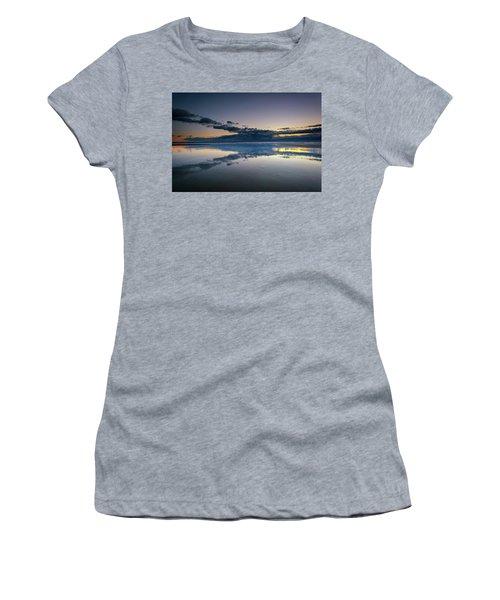 Women's T-Shirt (Junior Cut) featuring the photograph Wells Beach Reflections by Rick Berk