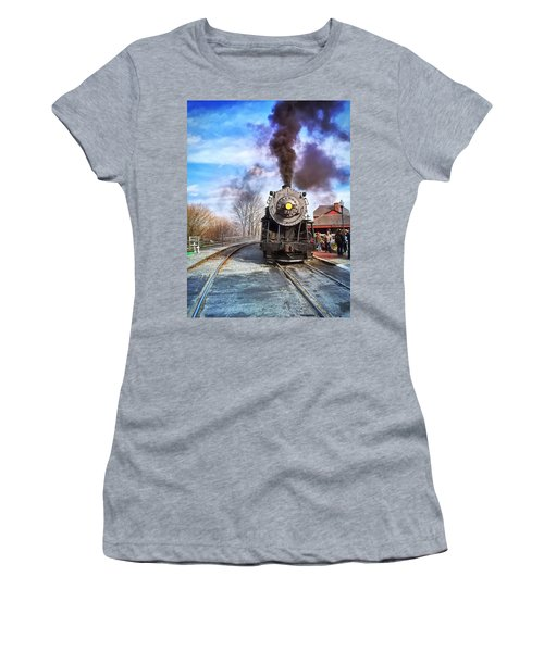 Western Maryland Steam Engine Women's T-Shirt (Athletic Fit)