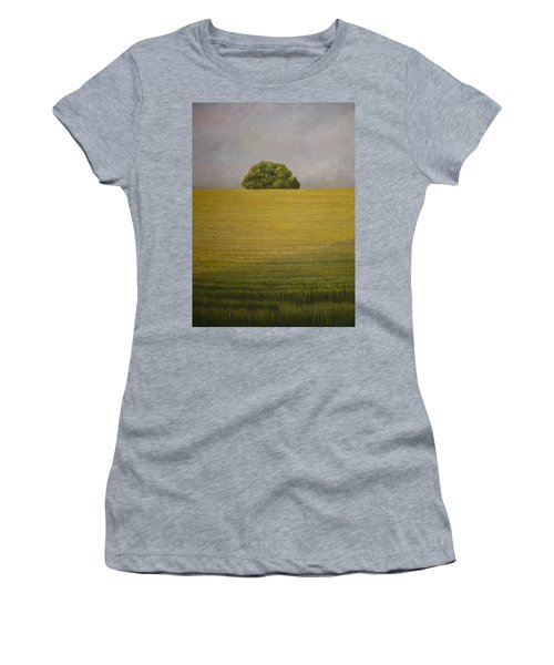 Women's T-Shirt featuring the painting Wheat Field by Caroline Philp