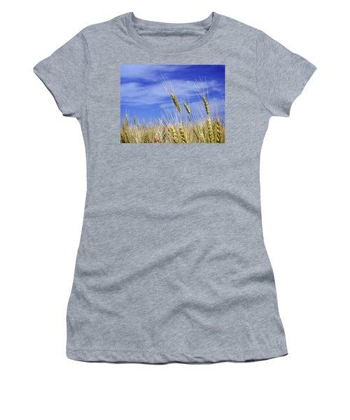 Wheat Trio Women's T-Shirt (Athletic Fit)