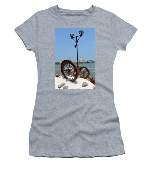 Wheels By The Water Women's T-Shirt (Athletic Fit)