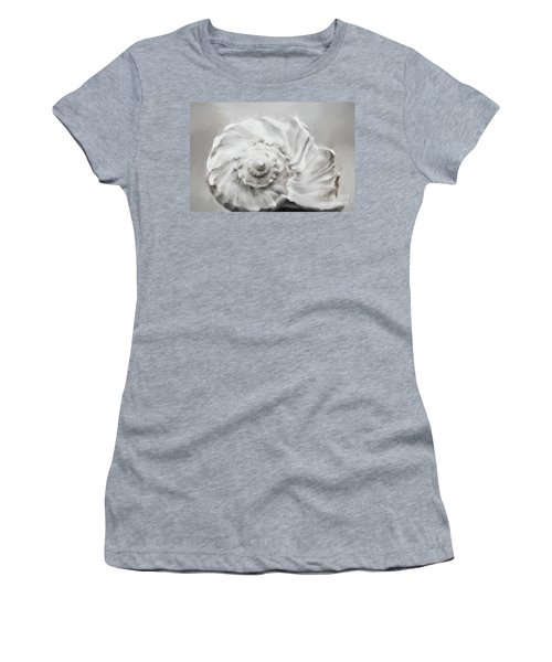 Women's T-Shirt (Junior Cut) featuring the photograph Whelk In Black And White by Benanne Stiens