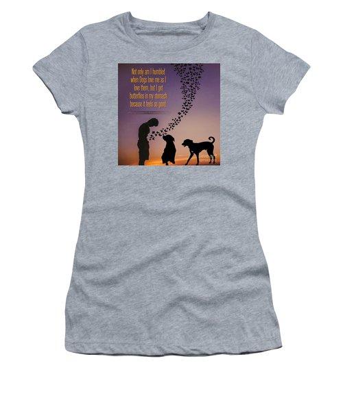 When I Get Butterflies Women's T-Shirt (Athletic Fit)