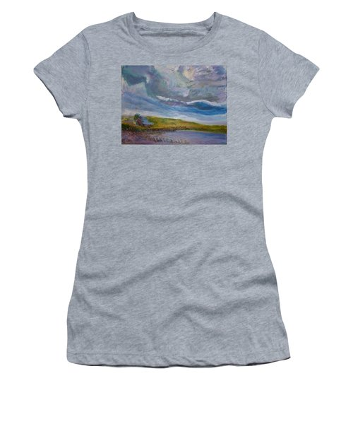 When Push Comes To Shove Women's T-Shirt (Junior Cut) by Helen Campbell