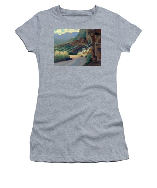 Where The Road Bends Women's T-Shirt (Athletic Fit)