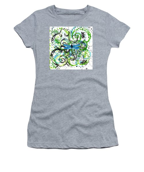 Whimsical Dragonflies Women's T-Shirt (Junior Cut) by Genevieve Esson