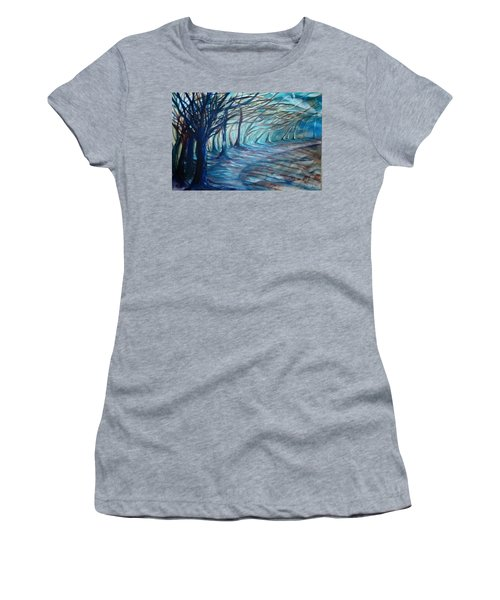 Whisper Women's T-Shirt (Junior Cut) by Jan VonBokel