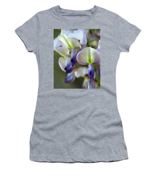 Wisteria White And Purple Women's T-Shirt