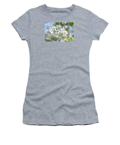 Women's T-Shirt (Junior Cut) featuring the photograph White Cherry Blossoms In Spring by Alexander Senin