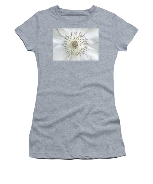 White Clematis Flower Garden 50121b Women's T-Shirt