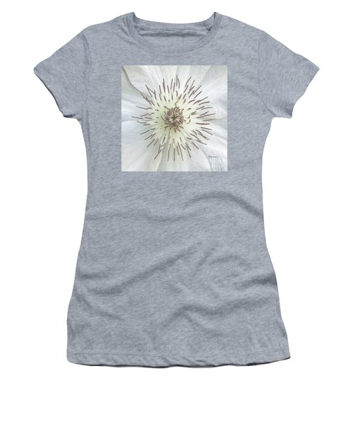 White Clematis Flower Macro 50121c Women's T-Shirt