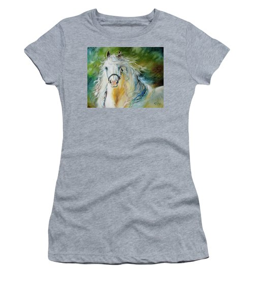 White Cloud The Andalusian Stallion Women's T-Shirt