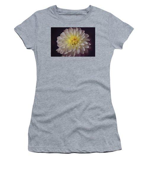 White Dahlia Women's T-Shirt (Athletic Fit)