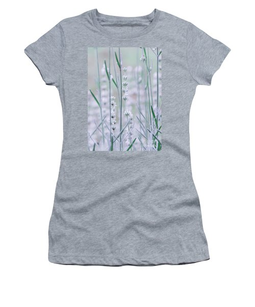 Women's T-Shirt (Athletic Fit) featuring the photograph White Lavender  by Andrea Anderegg