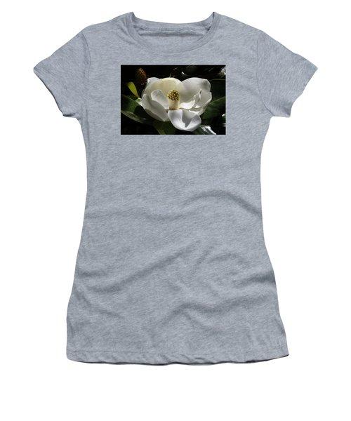 White Magnolia Flower Women's T-Shirt