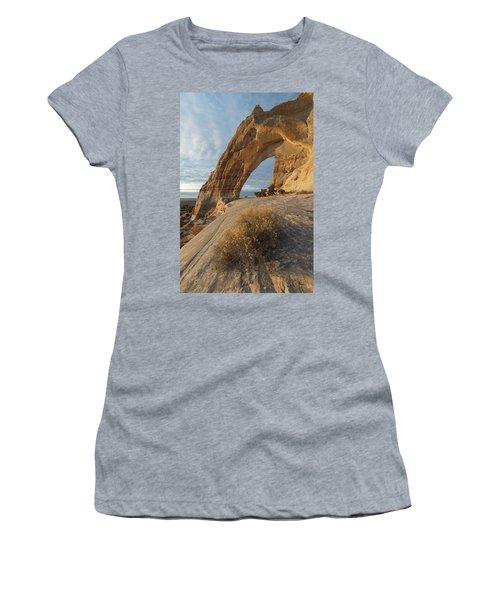 Women's T-Shirt (Junior Cut) featuring the photograph White Mesa Arch by Dustin LeFevre