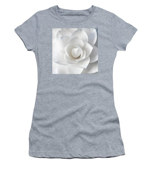 White Petals Women's T-Shirt (Athletic Fit)