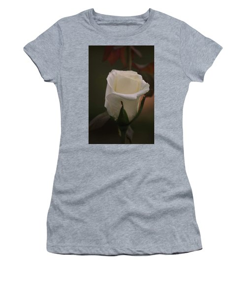 White Rose Women's T-Shirt (Junior Cut) by Donna G Smith