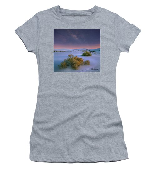 White Sands Starry Night Women's T-Shirt (Athletic Fit)