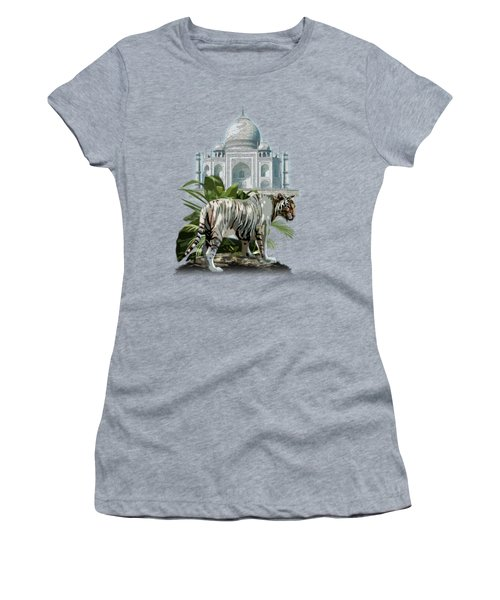 White Tiger And The Taj Mahal Image Of Beauty Women's T-Shirt