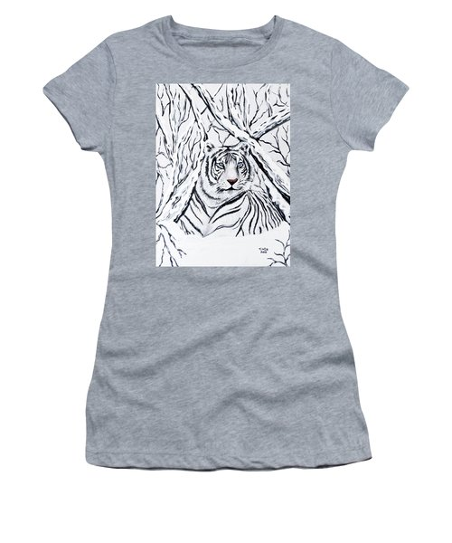 White Tiger Blending In Women's T-Shirt