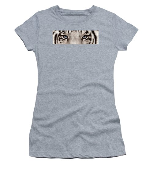 White Tiger Eyes Women's T-Shirt (Athletic Fit)