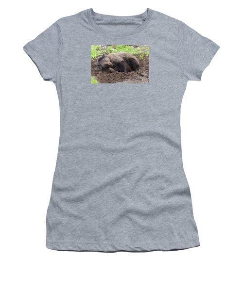 Whose Making Noise Women's T-Shirt (Junior Cut) by Harold Piskiel
