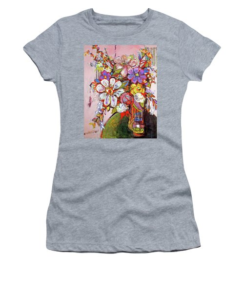 Wild Flowers Women's T-Shirt (Junior Cut) by Sharon Furner