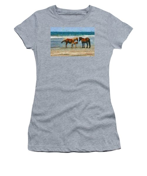 Wild Horses Of The Outer Banks Women's T-Shirt (Athletic Fit)