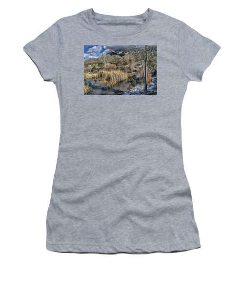 Women's T-Shirt (Junior Cut) featuring the photograph Wildlife Water Hole by Alan Toepfer