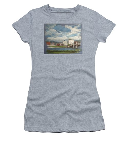 Wilkes-barre And River Women's T-Shirt (Junior Cut) by Christina Verdgeline