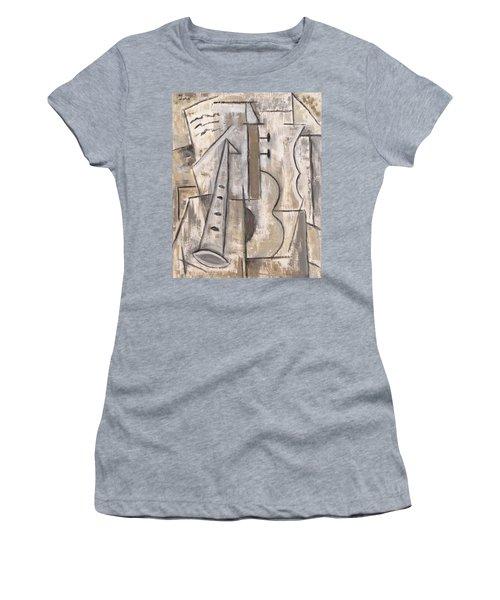 Wind And Strings Women's T-Shirt (Junior Cut) by Trish Toro