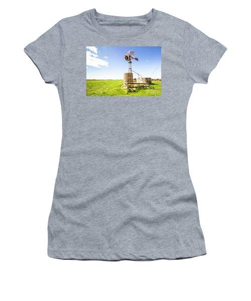 Wind Powered Farming Station Women's T-Shirt