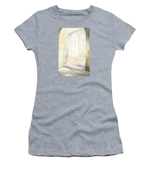 Women's T-Shirt (Athletic Fit) featuring the painting Window by Darren Cannell