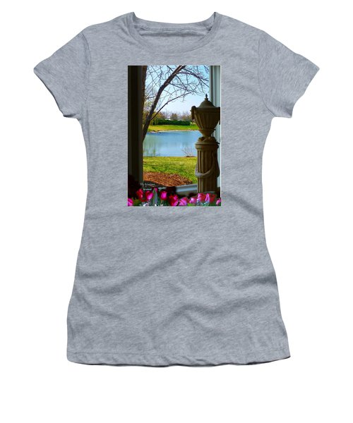 Window View Pond Women's T-Shirt