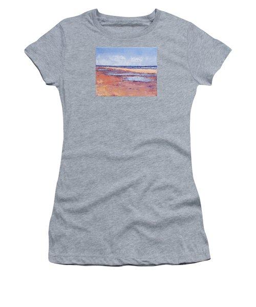 Windy October Beach Women's T-Shirt (Junior Cut) by Trina Teele