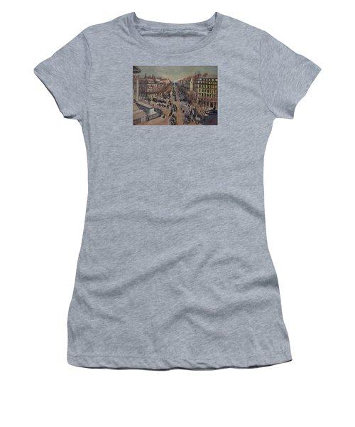 Winter At The Boulevard De La Madeleine, Paris Women's T-Shirt (Junior Cut)