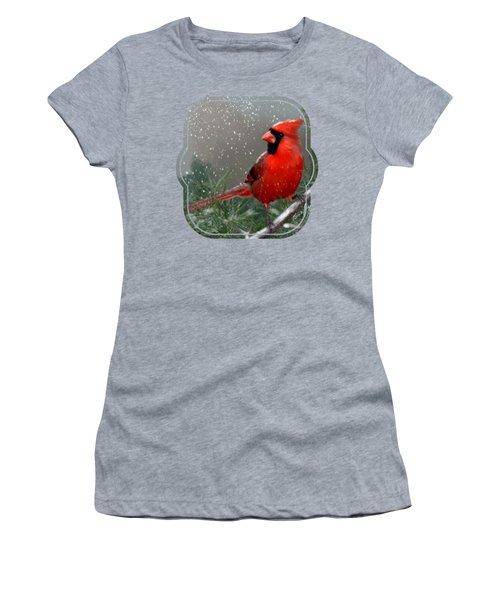 Winter Cardinal Women's T-Shirt