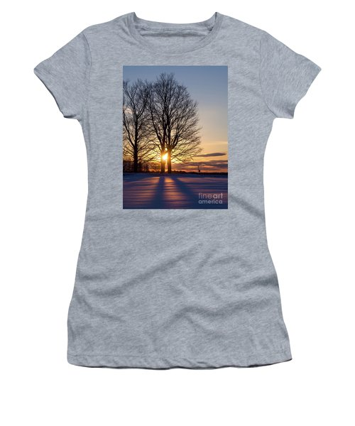 Winter, Crystal Spring Farm, Brunswick, Maine -78592 Women's T-Shirt